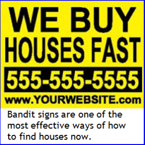 Real Estate Investing Bandit Signs